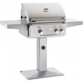 American Outdoor Grill T-Series 24-Inch Natural Gas Grill On Pedestal With Rotisserie