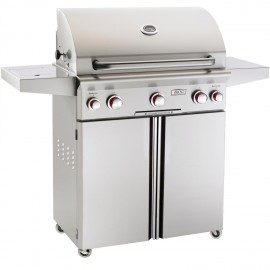 American Outdoor Grill T-Series 30-Inch Propane Gas Grill On Cart with Rotisserie and Side Burner