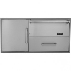 Coyote 42-Inch Access Door And Drawer Combo With Warming Drawer