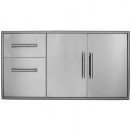 Coyote 45-Inch Double Access Doors And Access Drawers Combo