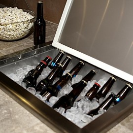 Coyote Stainless Steel Drop In Ice Bin Cooler - Storing Drinks