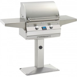 Fire Magic Aurora A430s Natural Gas Grill On Patio Post