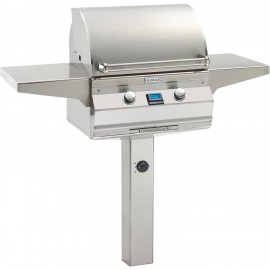 Fire Magic Aurora A430s Propane Gas Grill With One Infrared Burner On In-Ground Post
