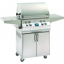 Fire Magic Aurora A430s Propane Gas Grill With Single Side Burner And Rotisserie On Cart