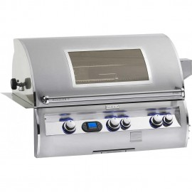 Fire Magic Echelon Diamond Gas Built-In Grill With One Infrared Burner And Magic View Window