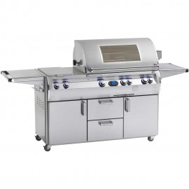 Fire Magic Echelon Diamond Gas Grill With Double Side Burner And Magic View Window On Cart