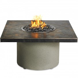 Sedona By Lynx 44-Inch Square Propane Ice-N-Fire Pit - Falcon Gray