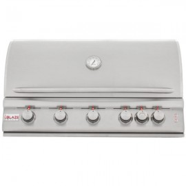 Blaze 40 Inch 5-Burner LTE Gas Grill With Rear Burner and Built-In Lighting System BLZ-5LTE