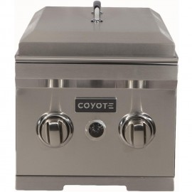 Coyote Built-In Propane Gas Double Side Burner - With Lid