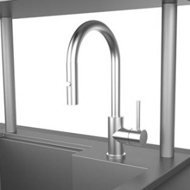 Hestan 30-Inch Insulated Sink With High Shelf HS-GISHS30