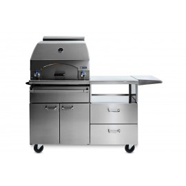 Lynx Professional Napoli Freestanding Outdoor Pizza Oven On Mobile Kitchen Cart-LPZAF.