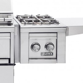 Lynx Double Cart Mounted Gas Side Burner - Mounted To Cart Grill (Shown With Grill - Not Included)