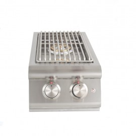 Blaze Built-In LTE Double Side Burner with Lights BLZ-SB2LTE