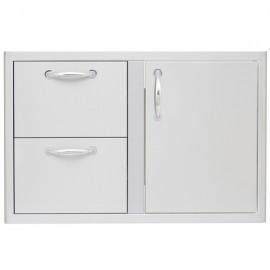 Blaze 32-Inch Access Door & Double Drawer Combo BLZ-DDC-R