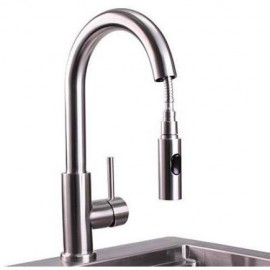 Lynx Professional Outdoor Single-Handle Pull-Down Gooseneck Faucet LPFK
