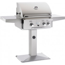 AOG American Outdoor Grill L-Series 24 Inch Gas Grill W Rotisserie On In-Ground Post 24NPL