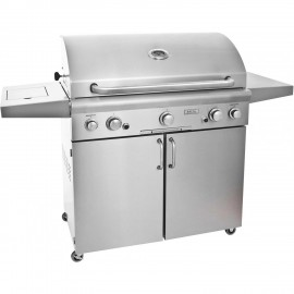 AOG American Outdoor Grill L-Series 36 Inch Propane Gas Grill On Cart W Rotisserie & Side Burner 36PCL