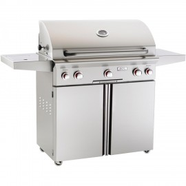 AOG American Outdoor Grill T-Series 36-Inch Propane Gas Grill On Cart W Rotisserie & Side Burner