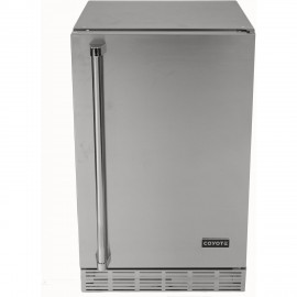 Coyote 21-Inch, 4.1 Cu. Ft. Outdoor Stainless Steel Refrigerator CBIR