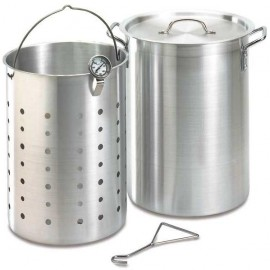 Fire Magic 26 Quart Aluminum Turkey Fryer Pot With Basket And Thermometer 3570