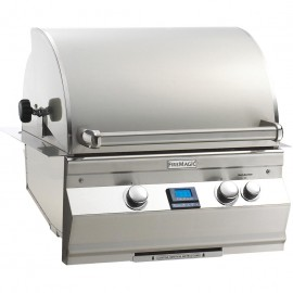 Fire Magic Aurora A530i 24-Inch Built-In Gas Grill With Analog Thermometer And Rotisserie A530i-6EAN