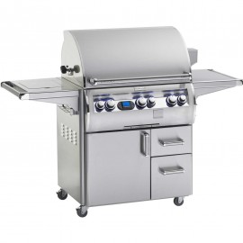Fire Magic Echelon Diamond E660s Propane Gas Grill With Single Side Burner And One Infrared Burner On Cart