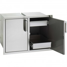 Fire Magic Premium Flush 30-Inch Double Doors with Dual Drawers 53930SC-22