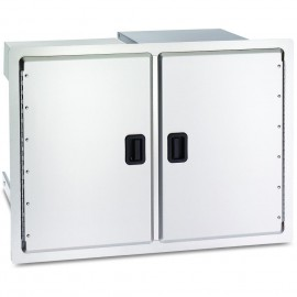 Fire Magic Legacy 30-Inch Double Access Doors With Dual Drawers And Trash Bin Storage 23930S-12