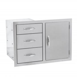 North American 33-Inch Stainless Steel 3 Drawer & Access Door Combo SSDC3-33