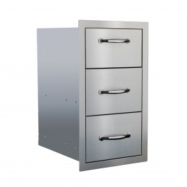 North American 17-Inch Stainless Steel Triple Drawer SSDR3-17