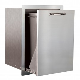 North American 20-Inch Stainless Steel Trash Pullout Drawer with 10 Gallon Trash Bin SSTD1-20