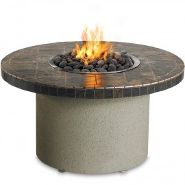 Sedona By Lynx 44-Inch Propane Ice 'N Fire Pit - Round (Falcon Gray) LFPC-G