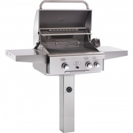 AOG American Outdoor Grill T-Series 24 Inch Gas Grill W Rotisserie On In-Ground Post 24NGT