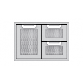 Hestan 30-Inch Double Drawer and Storage Door Combo HS-AGSDR30