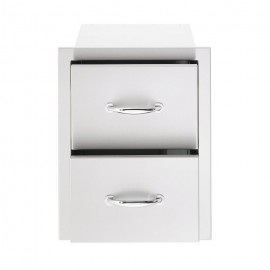 North American 17-Inch Stainless Steel Double Drawer SSDR2-17
