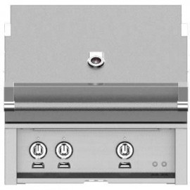 Hestan 30-Inch Built-In Grill, Trellis and Sear Burners with Rotisserie HS-GMBR30