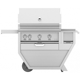 Hestan 36-Inch Deluxe Grill on Cart, Trellis and Sear Burners with Rotisserie and Worktop HS-GMBR36CX