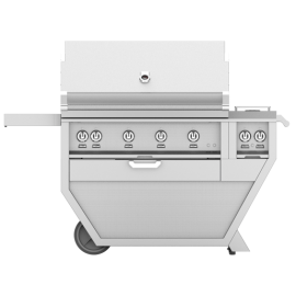 Hestan 42-Inch Deluxe Grill On Cart, Trellis and Sear Burners with Rotisserie and Double Side Burner HS-GMBR42CX2