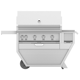Hestan 42-Inch Deluxe Grill On Cart, Trellis and Sear Burners with Rotisserie and Worktop HS-GMBR42CX