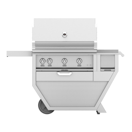 Hestan 36-Inch Deluxe Grill on Cart, All Trellis with Rotisserie and Worktop HS-GABR36CX