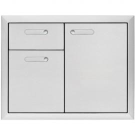 Lynx Ventana 42-Inch Access Door & Double Drawer Combo LSA42-4