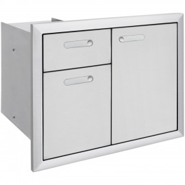 Lynx Ventana 30-Inch Trash Center And Double Drawers LTA30-4