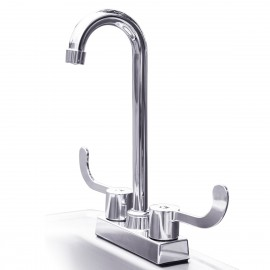 Summerset Stainless Steel Drop-in 15-Inch Sink and Hot/Cold Faucet SSNK-15D