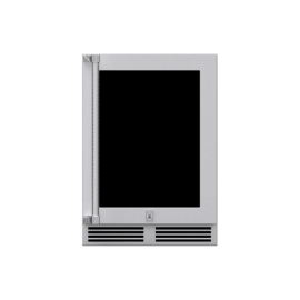 Hestan 24-Inch Outdoor Dual Zone Refrigerator With Wine Storage and Lock, Glass Door HS-GRWG24