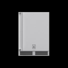 Hestan 24-Inch Outdoor Dual Zone Refrigerator With Wine Storage and Lock, Solid Door HS-GRWS24