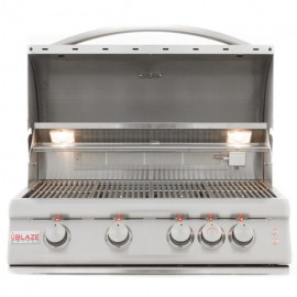 Blaze 32 Inch 4-Burner LTE Gas Grill With Rear Burner and Built-In Lighting System-img-2