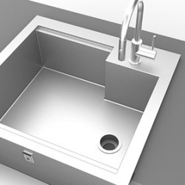 Hestan 30 Inch Insulated Sink With High Shelf HS GISHS30