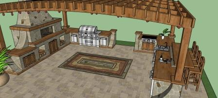 Outdoor Kitchen Design Center, Frame Plans, BBQ Designs Ideas